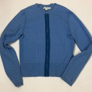 Tommy Hilfiger Front Zip Cable knit Cardigan L